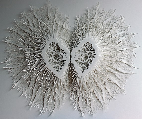 Lasercut paper sculpture