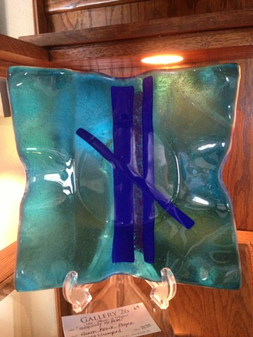 Fused glass dish for the kitchen or the gallery