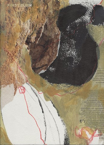 acrylic, painting, collage, climbing, red