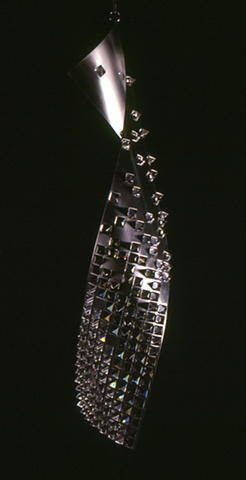 lead crystal and stainless steel sculpture