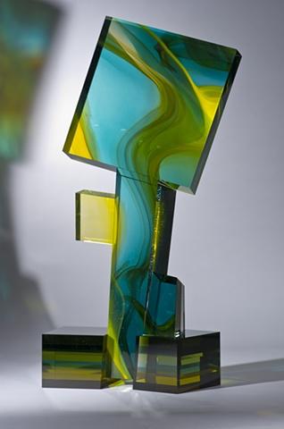 Art glass sculpture by Cliff Maier, Narrow Bridge Studio