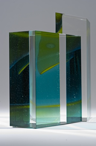 Glass art sculpture by Cliff Maier