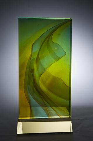 Glass sculpture by Cliff Maier narrow Bridge Studio