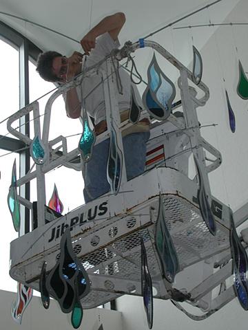 click to zoom/unzoom    Installation - St. Pauls, Tampa, Fl. Collaboration with J. Piercey Studios, Orlando, Fl.
