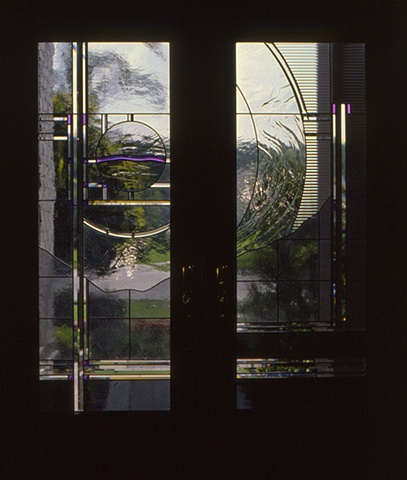 Stained glass entry doors by Cliff Maier
