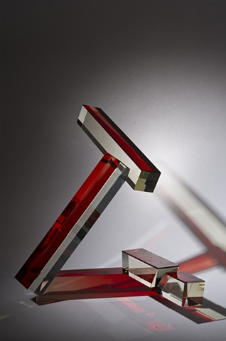 Glass Sculpture, Cliff Maier, Narrow Bridge Studio