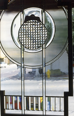 Leaded, beveled glass by Cliff Maier.