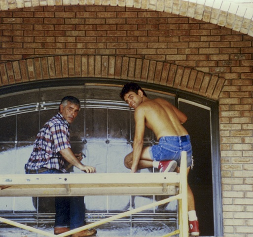 click to zoom/unzoom    Dominic and Andrey; transom installation, private residence.