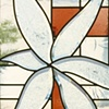 Click to zoom/unzoom   Beveled, stained and leaded glass.