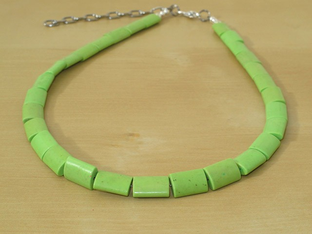 Green Chalk Turquoise Necklace
