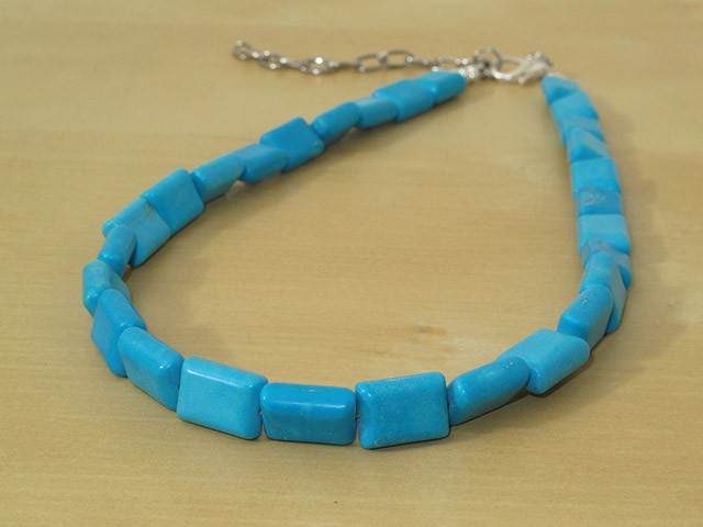 Blue Chalk Turquoise Necklace
