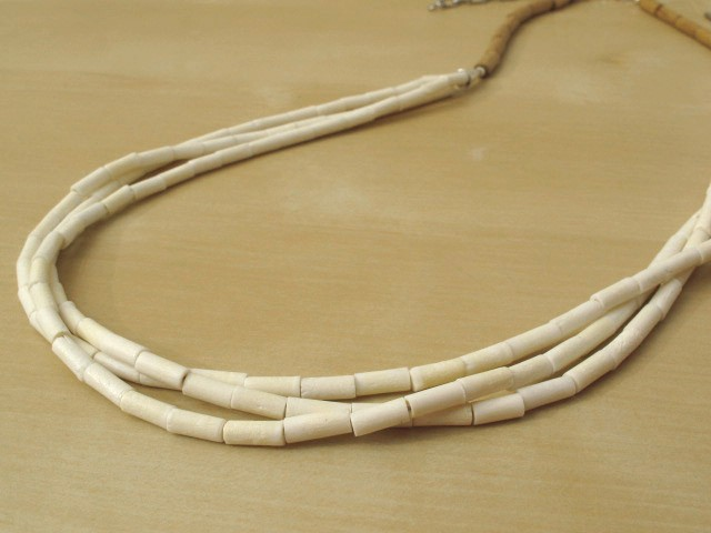 Bone & Wood Necklace-3 Strands