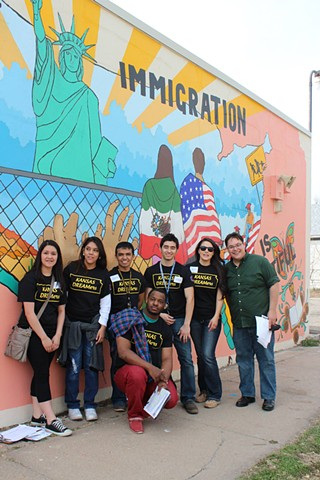 Kansas DREAMERs visiting the mural