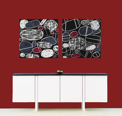 Larger Metal Prints for Stripe and Pebble Paintings