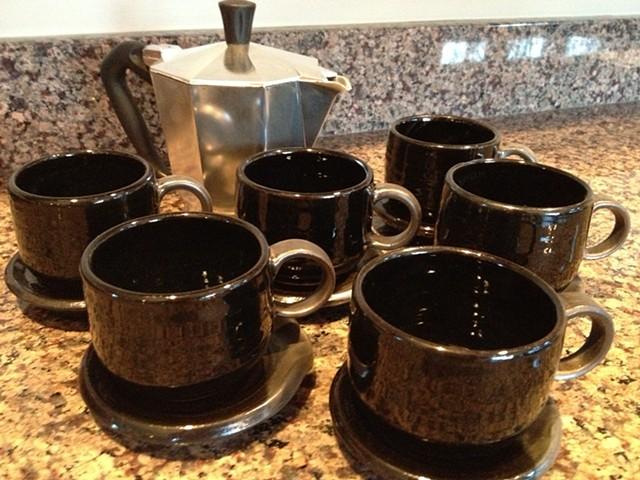 Chris Espresso Cups and Saucers
