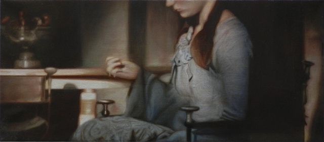 Still Life with Girl Embroidering