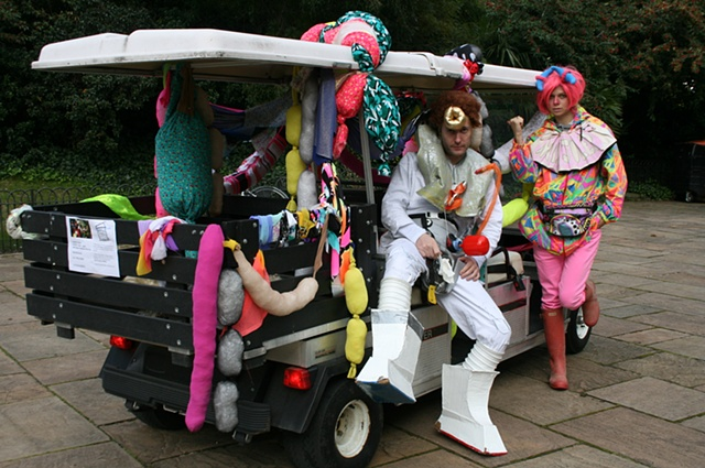Buggy tours of Battersea Park, 2011  As part of John Walter's Space Station Zsa Zsa, Pumphouse Gallery, London 2011