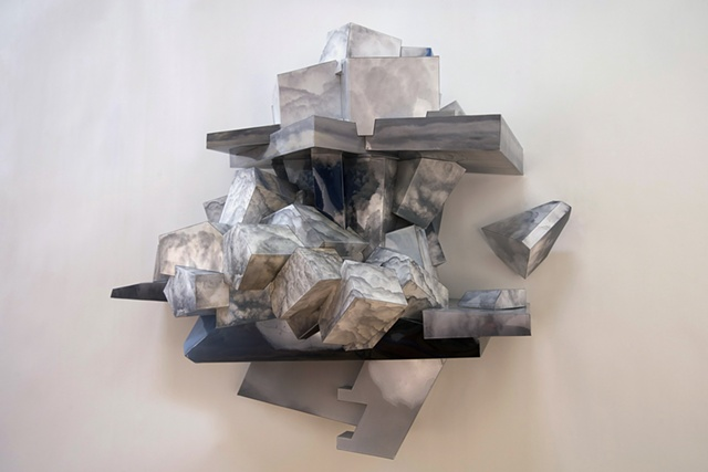 architectural sculpture by Patrick D. Wilson, clouds