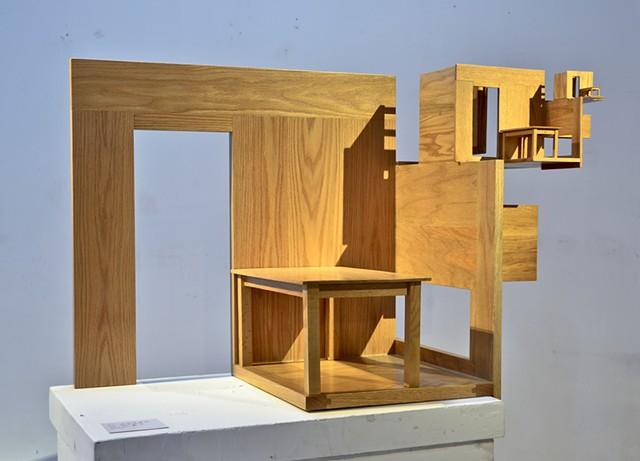 architectural wooden sculpture by Patrick D. Wilson