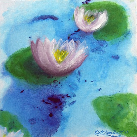 water lilies, lilies, pond, Impressionism, Impressionist, art, flowers, water, painting, nature, tranquil, relaxing, zen, nature, peaceful