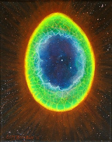 sciart, science art, space art, nebula, astronomy, space, painting, art