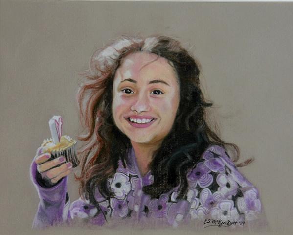 portrait art child figurative drawing pastel