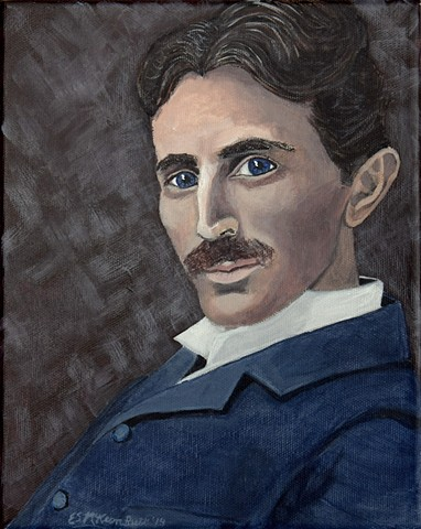 sci art, sci-art, science art, Nikola Tesla, Tesla art, electricity art, physics art, inventors art, portraits, Tesla art, Tesla artwork, Nikola Tesla art