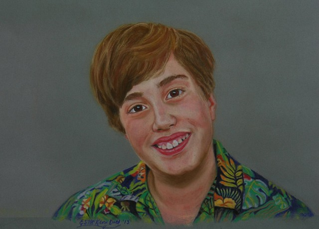 portrait art child figurative drawing pastel