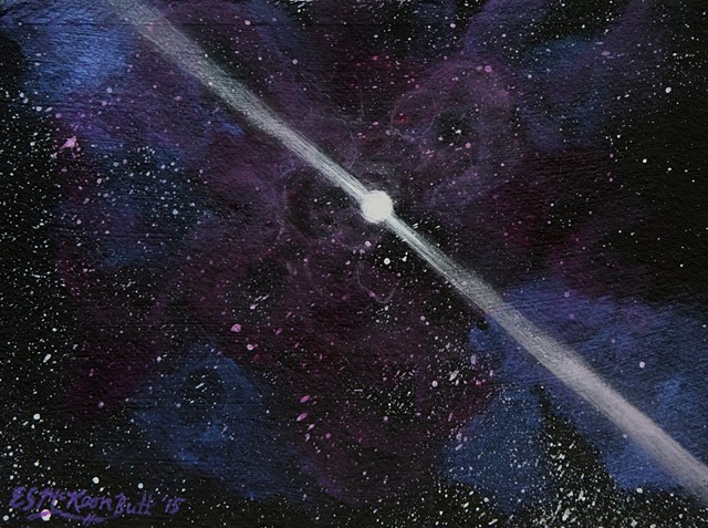 pulsar, pulsars, space, universe, galaxy, cosmic, stars, astronomy, space, painting, art, space art, art science, science art, sci-art, sciart