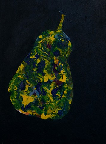 contemporary painting pear colorful abstract modern
