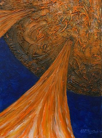 sun, sol, solar, solar flares, solar system, astronomy, science, universe, galaxy, cosmic, stars, space, space art, art, painting, art science, science art, sci-art