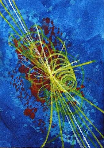 sci art, sci-art, science art, physics art, Higgs boson art, particle physics art, CERN art, decaying boson art