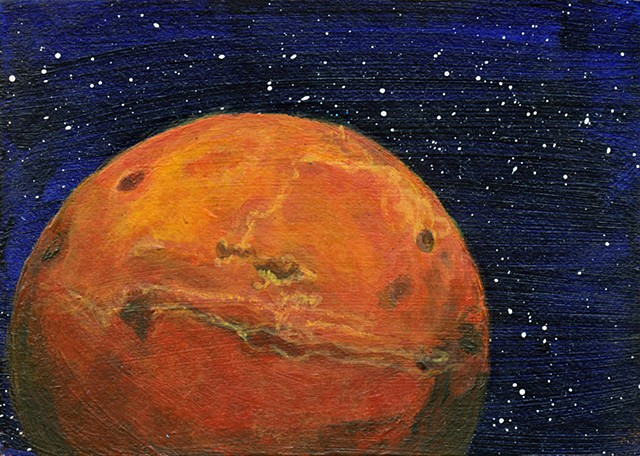 science, Mars, space, astronomy, planets, universe, solar system, cosmic, art, painting, art science, science art, sci-art, sciart