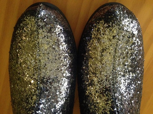 silver space travel boots (detail)