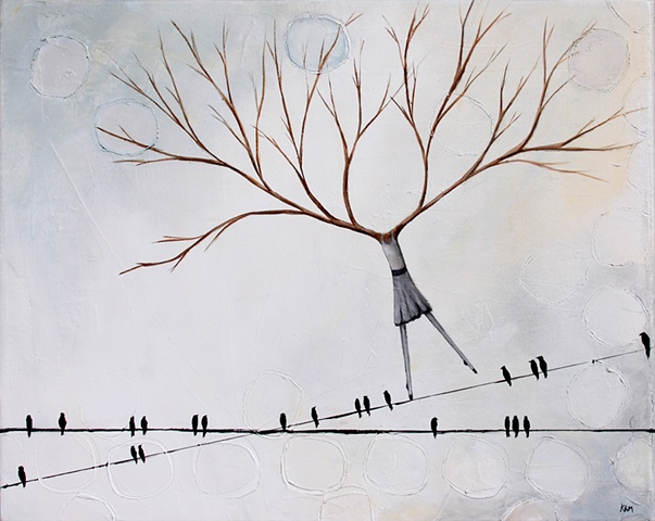 nothing left to lose, birds on a wire, trees that look like women, dancing on a wire