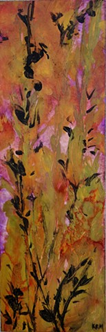 weed, weeds, abstract painting, wyoming landscape, feminist art, feminist artist, wyoming artist