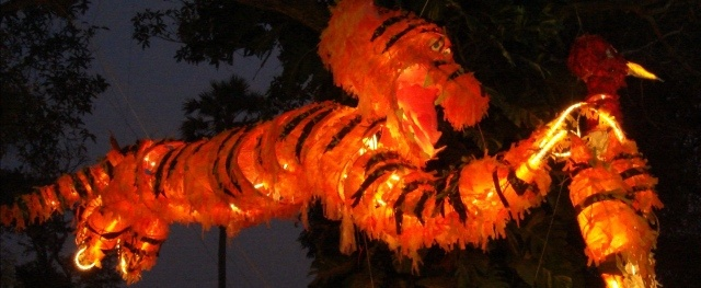 tiger the size of a bus from the cambodian carnival (see more at the community arts section)