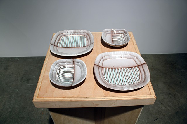 """Striped Plates and Bowls"""
