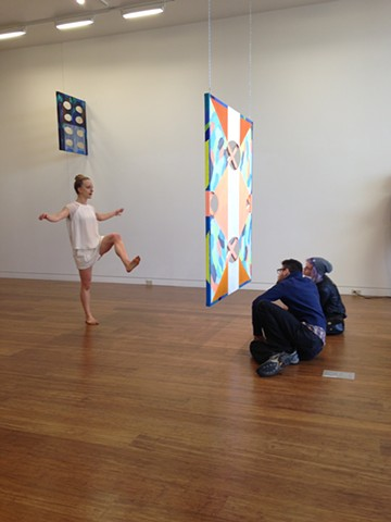 Installation images from performances in the gallery by the Leopold Group. Choreography by Lizzie Leopold