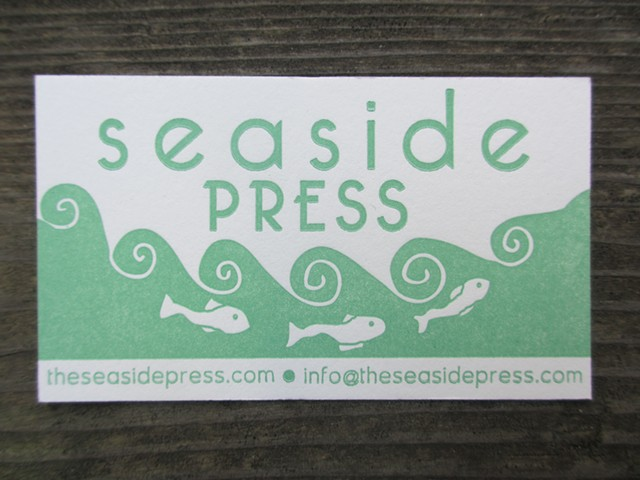Letterpress Business Cards - Seaside