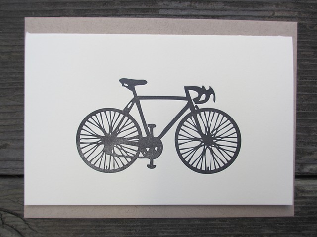 Letterpress Card - Bike