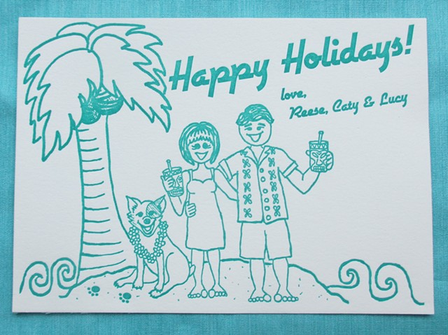 Custom Holiday Card - Cartoon