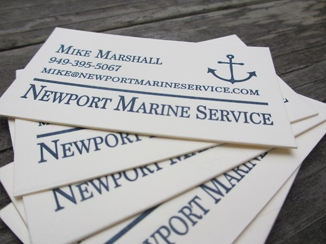 Letterpress Business Cards - Anchor