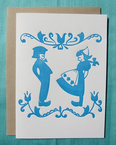 Letterpress Card - Dutch Love