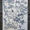 Letterpress Wedding Map - New York City