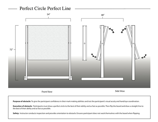 Perfect Circle Perfect LIne obstacle design