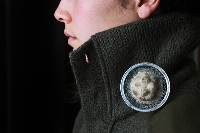 Nest 2, brooch by Sara Owens