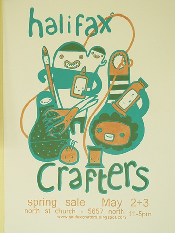 Halifax Crafters Spring 09 Poster