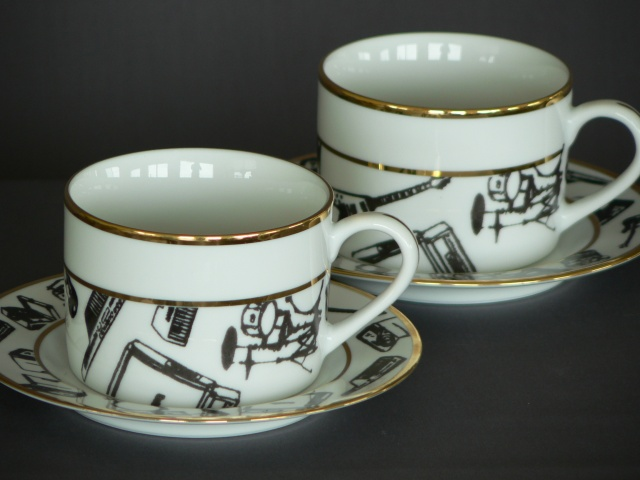 Tea Cup and Saucers - Recording Artist Pattern