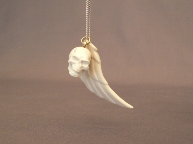 Hood Ornaments - Skull and Wing Necklace